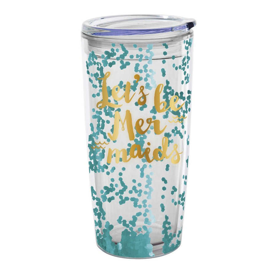 """Let's be Mermaids"" Travel Tumbler"