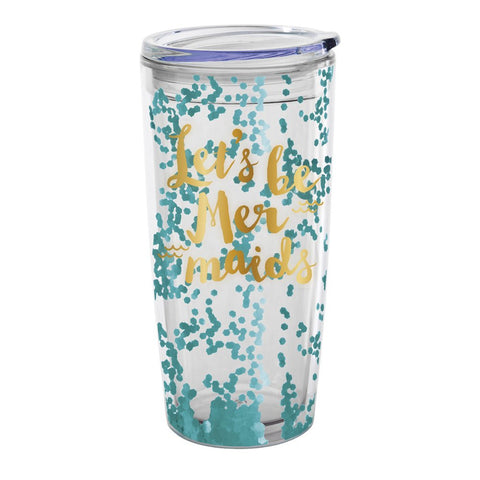 """Let's be Mermaids"" Travel Tumbler-Party Supplies-SC-Slant Collections-Putti Fine Furnishings"
