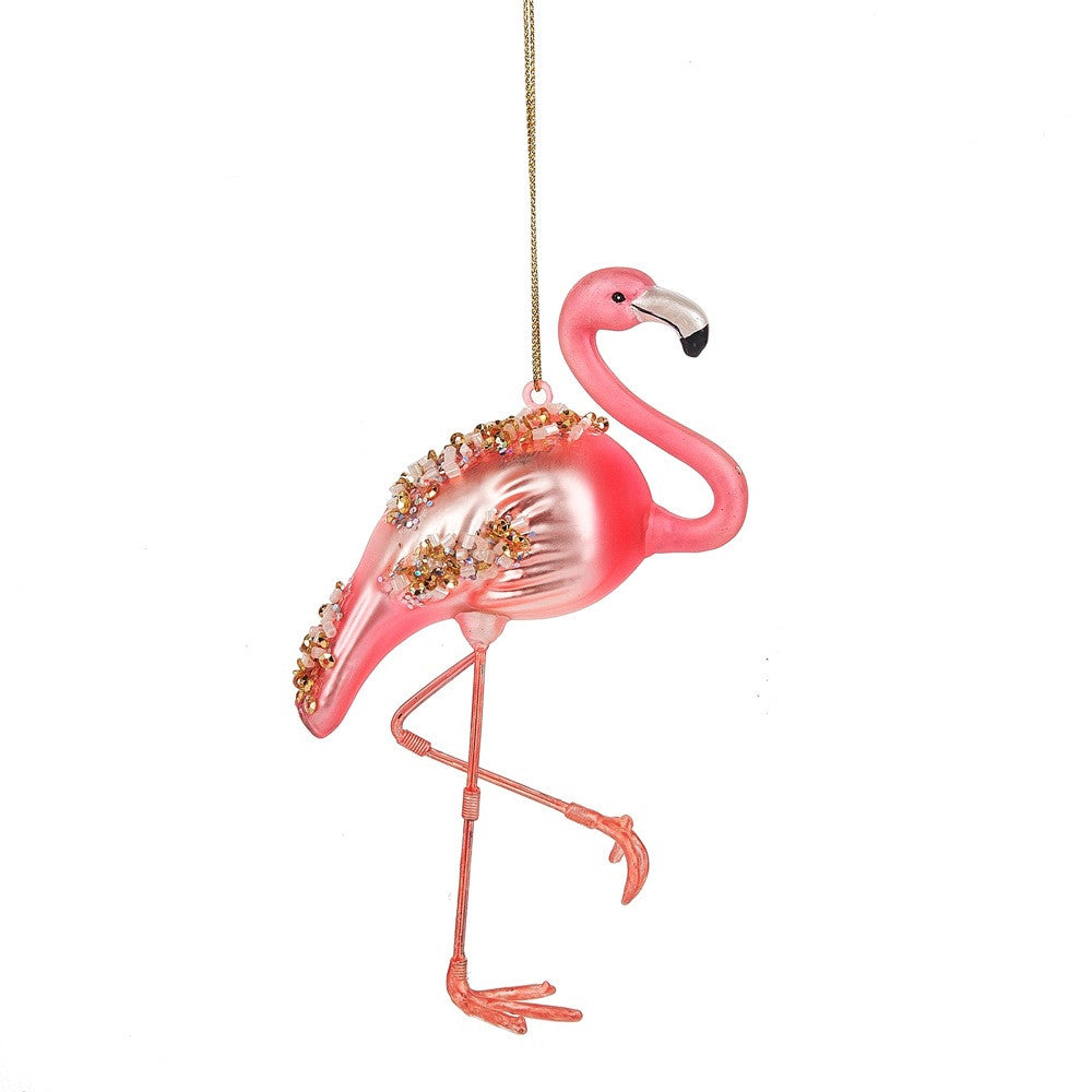 Pink Flamingo Ornament, MW-Midwest / CBK, Putti Fine Furnishings