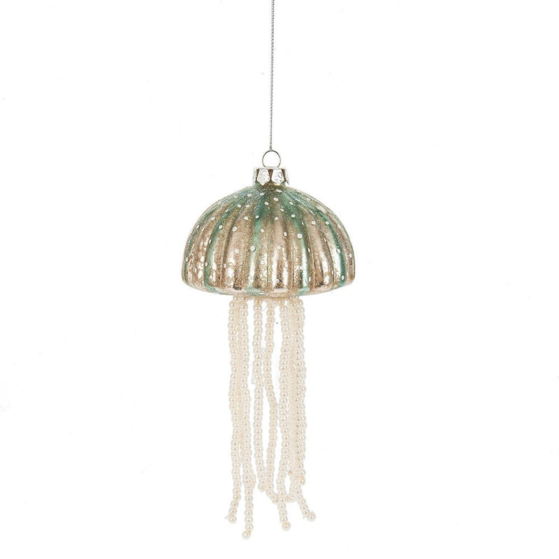 Jellyfish with Pearls Glass Ornament, MW-Midwest / CBK, Putti Fine Furnishings