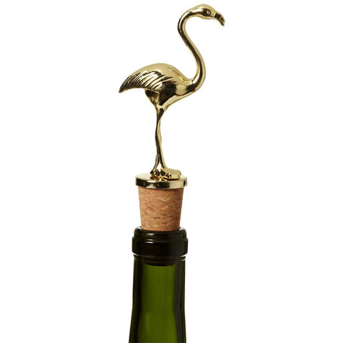 Gold Flamingo Bottle Stopper -  Bar Accessories - Midwest - Putti Fine Furnishings Toronto Canada