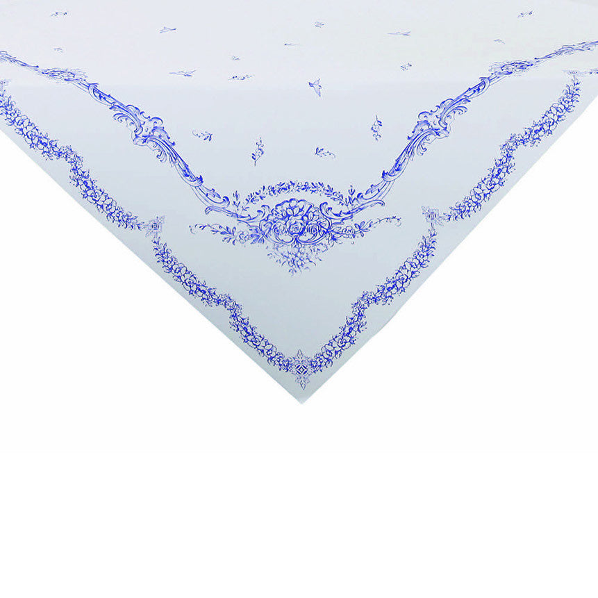 Party Porcelain Blue Paper Tablecloth -  Party Supplies - Talking Tables - Putti Fine Furnishings Toronto Canada - 1