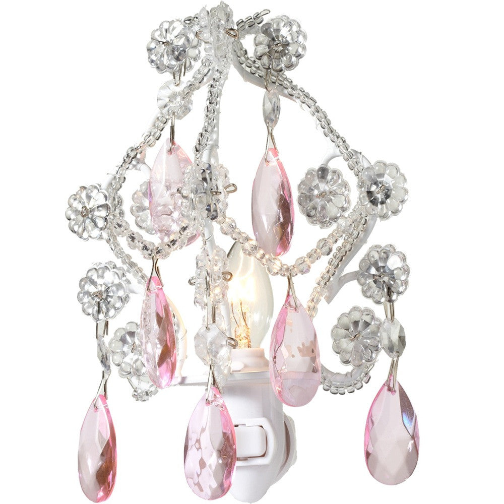 Chandelier Night Light - Pink -  Accessories - Midwest - Putti Fine Furnishings Toronto Canada