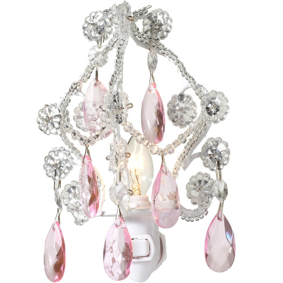 Chandelier Night Light - Pink