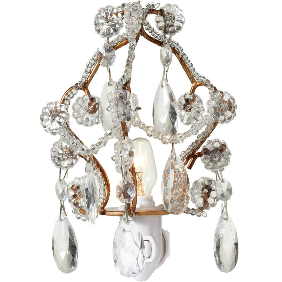 Chandelier Night Light - Gold
