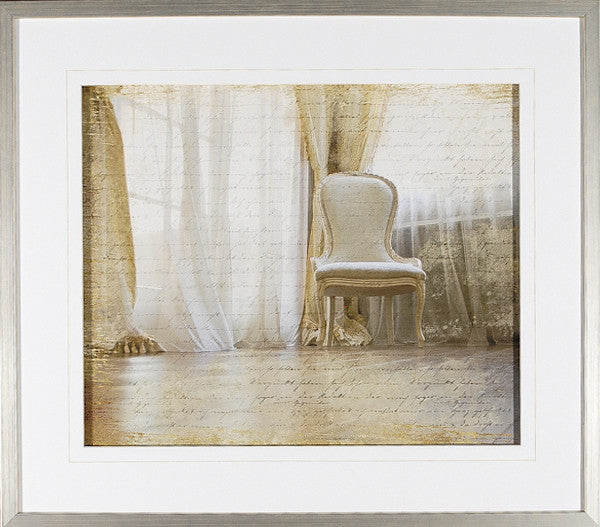 """Scripted Breeze"" Framed Print"