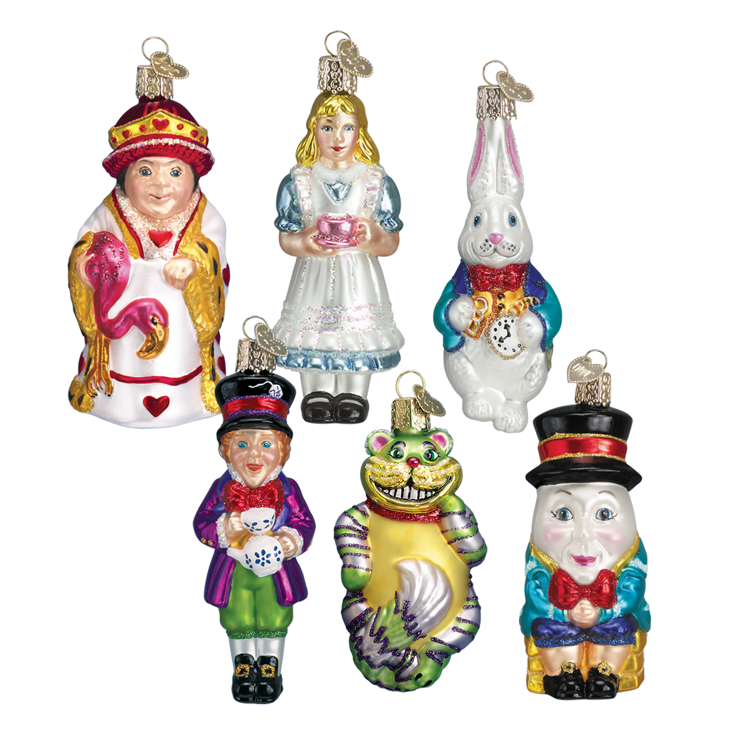 Old World Christmas Alice in Wonderland Glass Christmas Ornament