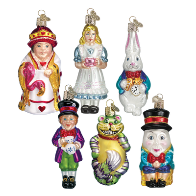 Old World Christmas Alice in Wonderland Glass Christmas Ornament Set -  Christmas - Old World Christmas - Putti Fine Furnishings Toronto Canada - 1