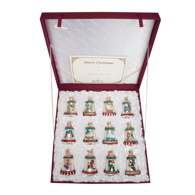 "Old World Christmas ""Twelve Days of Christmas"" Glass Christmas Ornament Set, OWC-Old World Christmas, Putti Fine Furnishings"