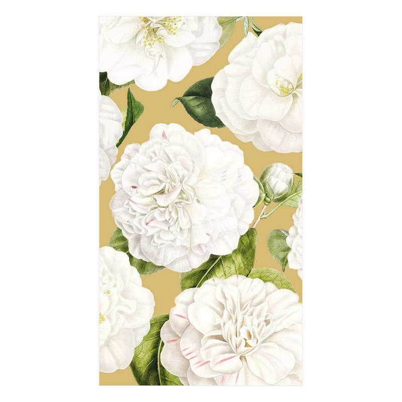 Gold Camellia Garden Paper Napkin - Guest | Putti Party Supplies