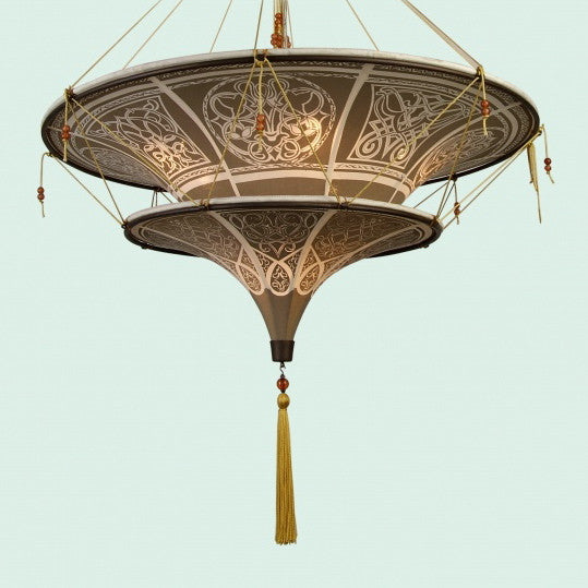 Patterned Fortuny Style Fixture -  Ceiling Fixture - BI-Bethel International - Putti Fine Furnishings Toronto Canada
