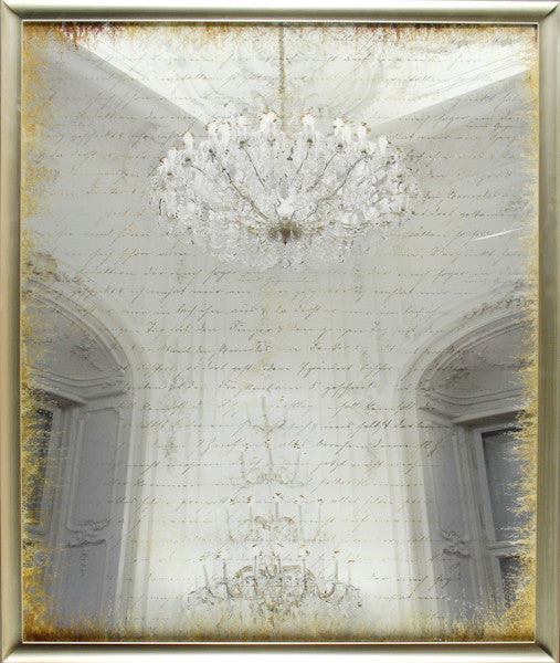 """Scripted Chandelier"" Framed Print"