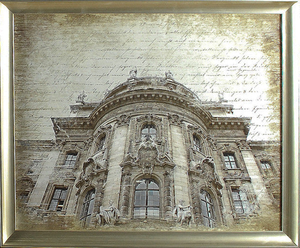 """Scripted Facade"" Framed Print -  Photographic Print - Cel Arts Studio - Putti Fine Furnishings Toronto Canada"
