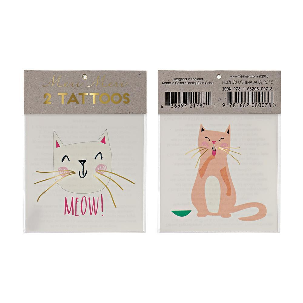 Meri Meri Rainbow Cat Tattoos | Putti Party Supplies