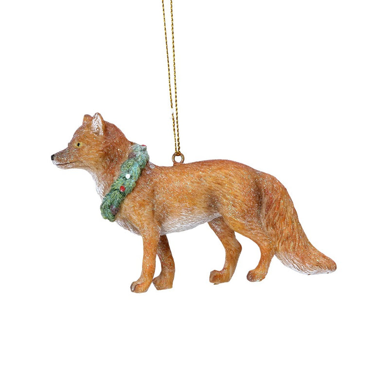 Fox with Wreath Ornament