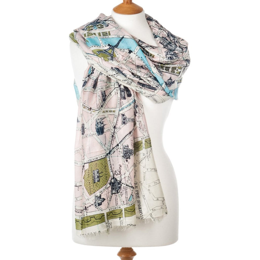 One Hundred Stars - Paris Street Map Scarf