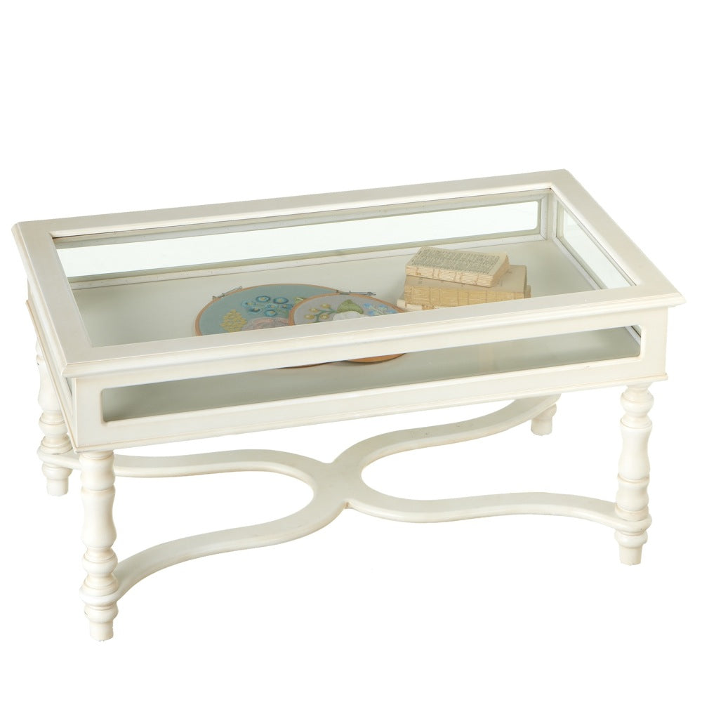 White Curio Coffee Table