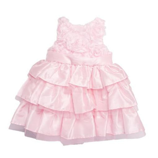Pink Rosette Dress with Ruffles-Children's Clothing-MP-Mud Pie-Size 2T-Putti Fine Furnishings