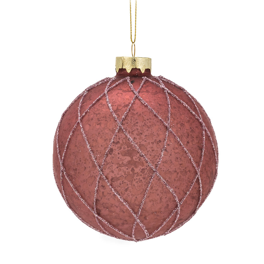 Large Quilt Ball Ornament