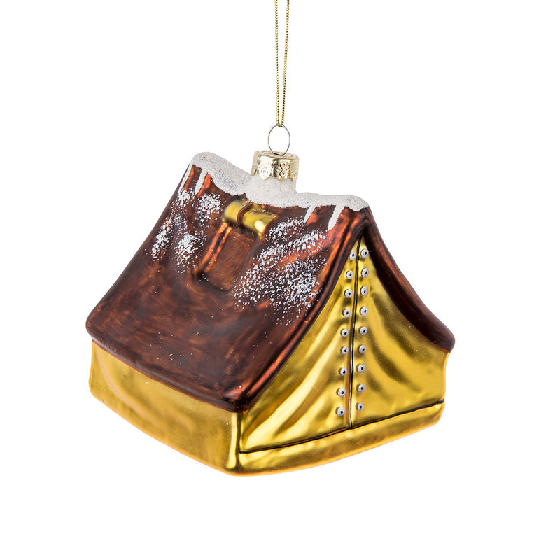 Camping Tent Glass Ornament | Putti Christmas Celebrations