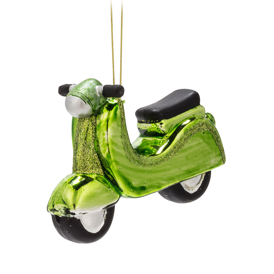 Green Vespa Glass Ornament