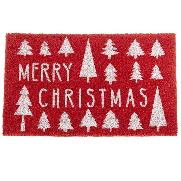 """Merry Christmas"" with Trees Doormat"