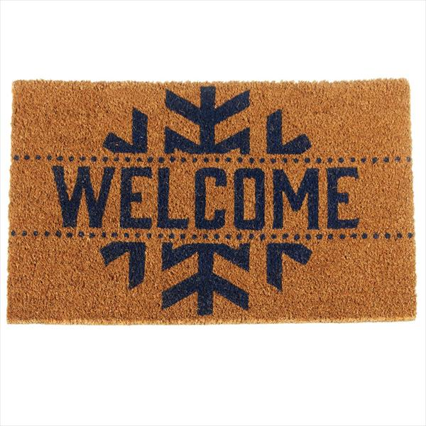 """Welcome"" Snowflake Doormat"