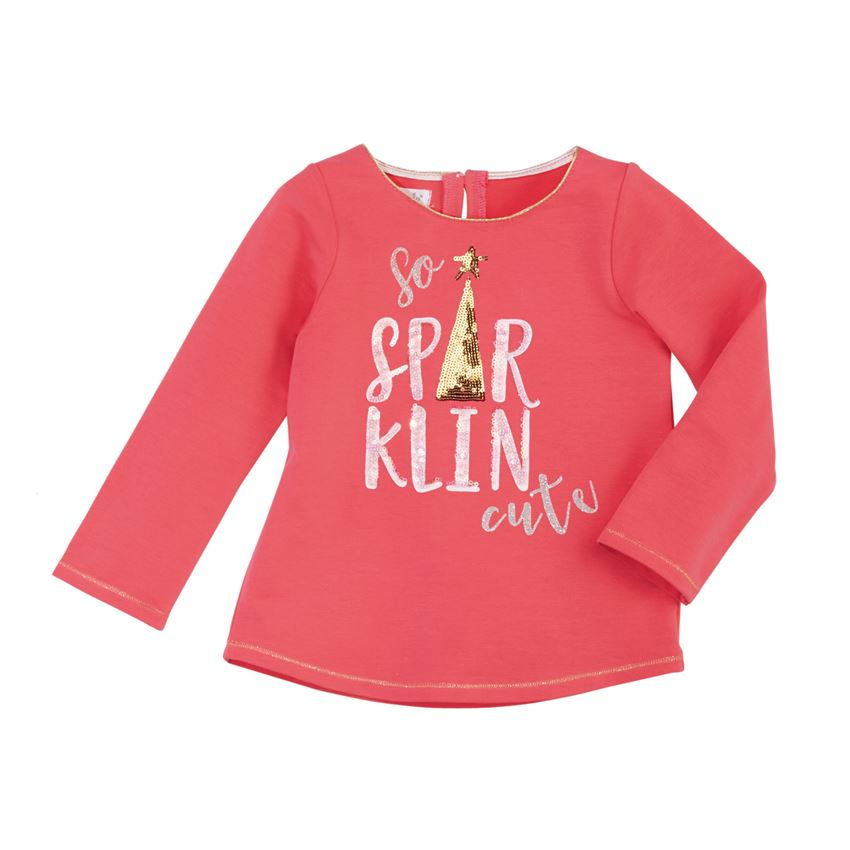 Mud Pie Sparklin Cute Holiday Sparkle Tee
