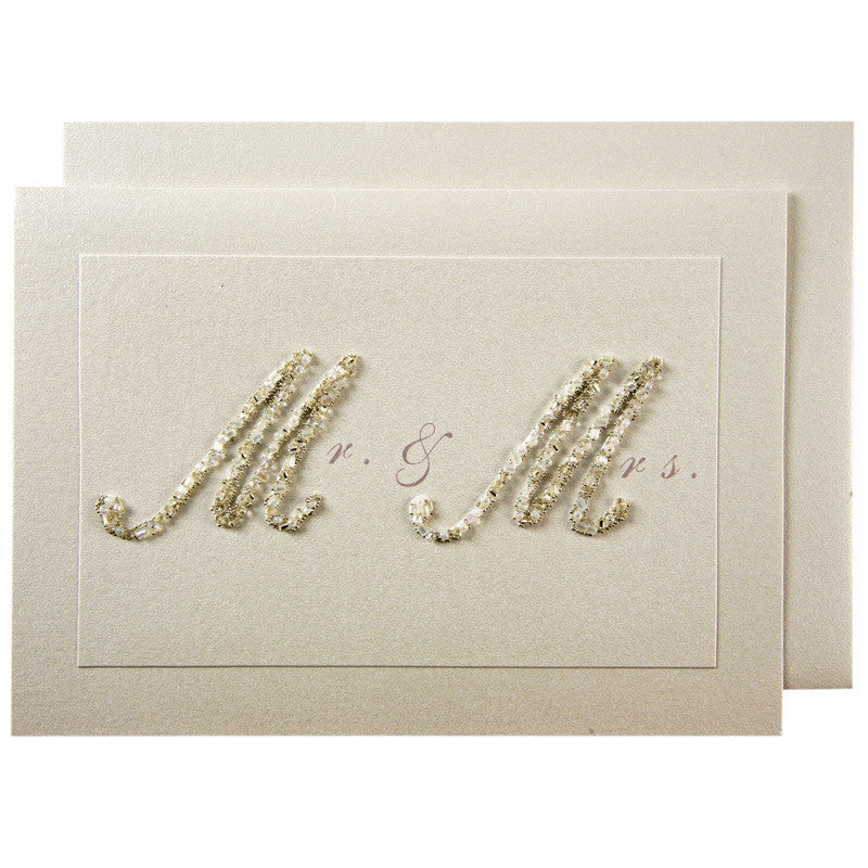 Meri Meri Beaded Mr & Mrs Card