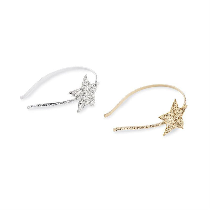 Mud Pie Glitter Star Headband - Silver, MP-Mud Pie, Putti Fine Furnishings