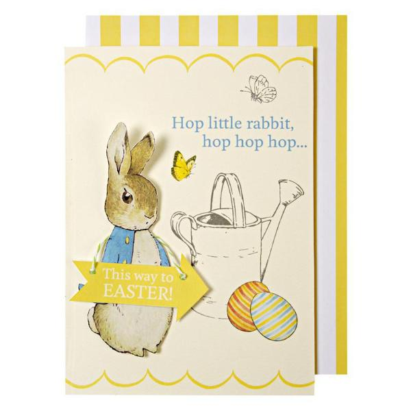 Meri Meri Peter Rabbit Easter Card -  Party Supplies - Meri Meri UK - Putti Fine Furnishings Toronto Canada