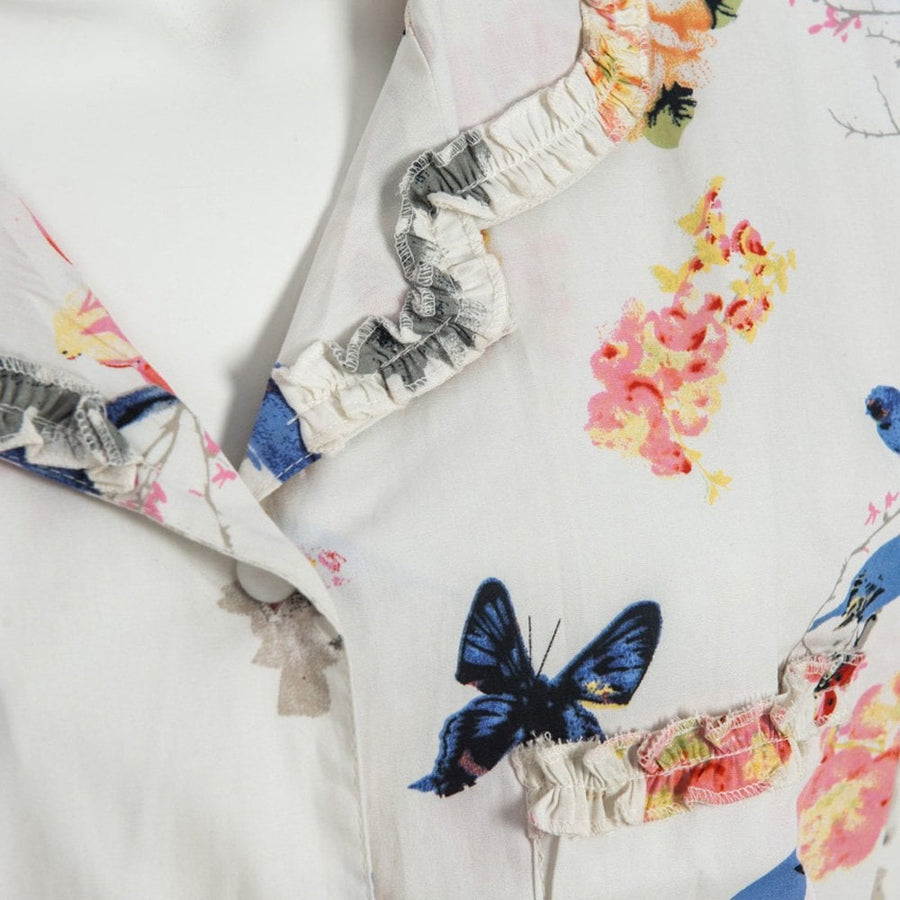 """Secret Garden"" Floral Ladies Cotton Pyjamas"