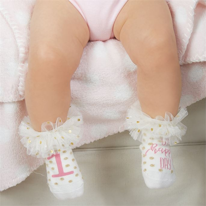 Oh Happy Day Baby Socks, MP-Mud Pie, Putti Fine Furnishings