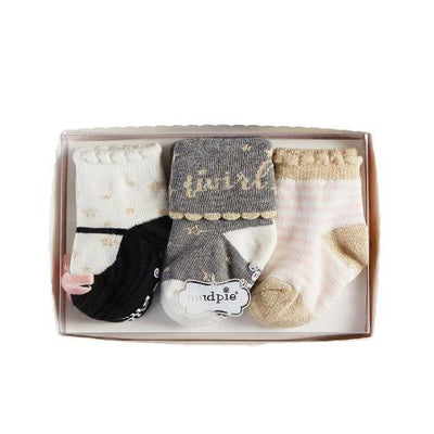 "Mud Pie ""Dream in Glitter"" Sock Set, MP-Mud Pie, Putti Fine Furnishings"