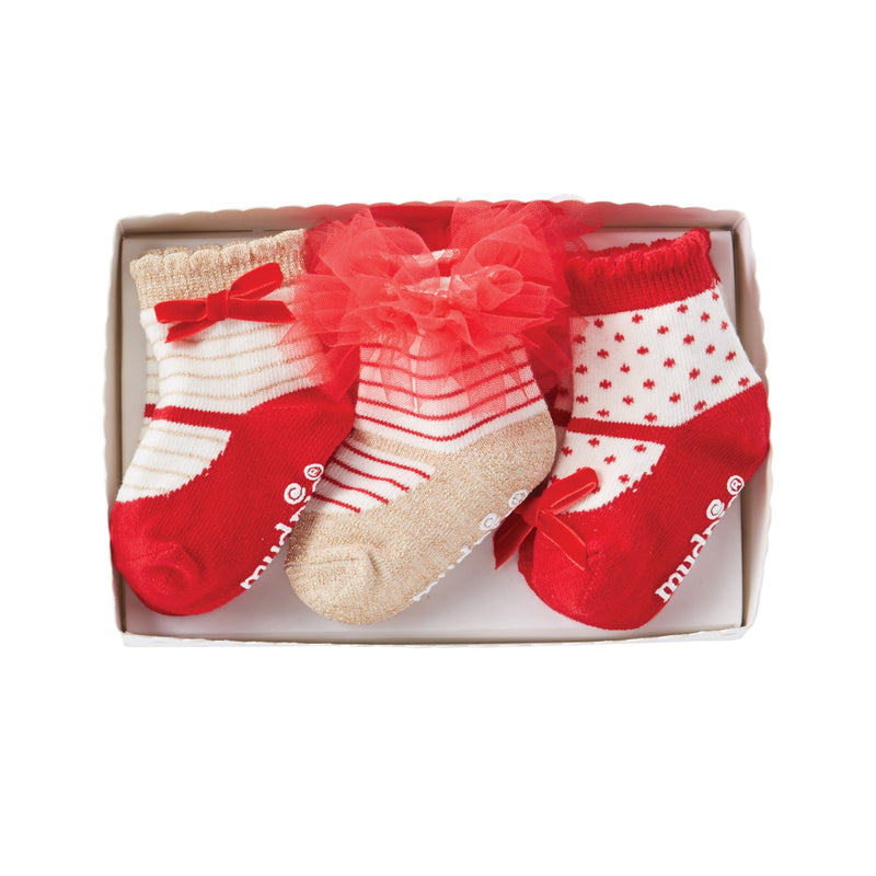 Mud Pie Red Mary Jane Sock Set, MP-Mud Pie, Putti Fine Furnishings