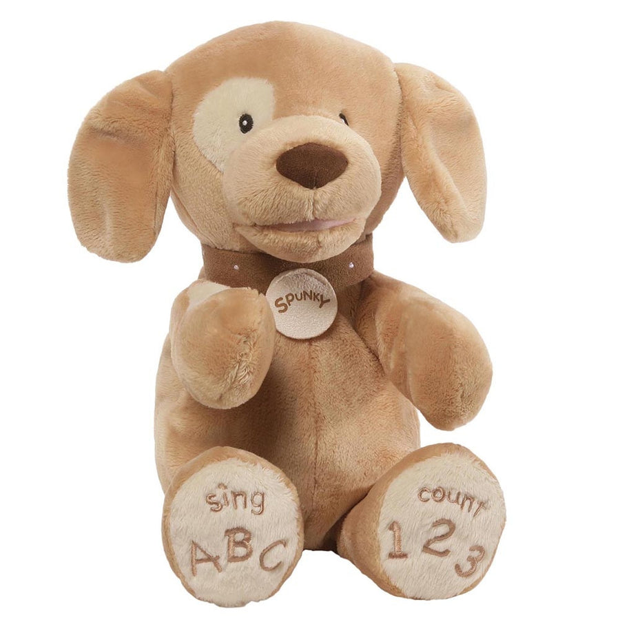 "Baby Gund ""Spunky"" the Dog - Animated, EC-Enesco Canada, Putti Fine Furnishings"