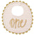 "Mud Pie Gold ""One"" Bib"