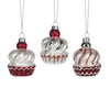 Candy Cupcake Glass Ornament | Putti Christmas Decorations