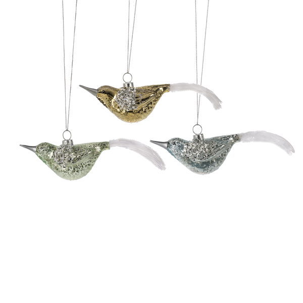 Vintage Pastel Glass Hanging Birds | Putti Christmas Canada
