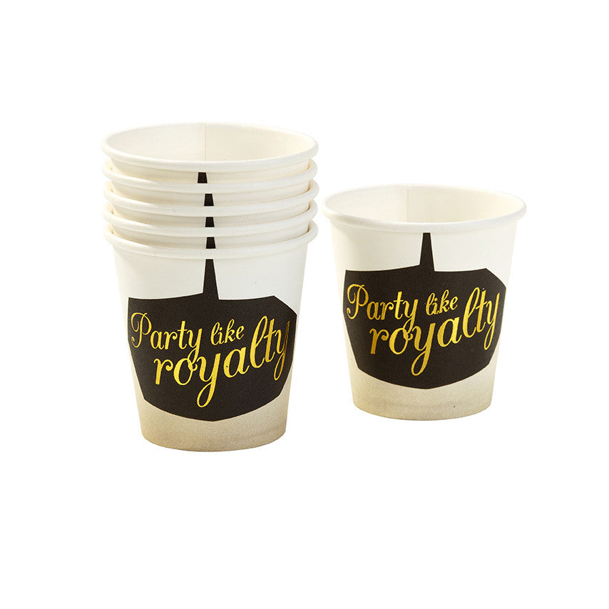 """Party Like Royalty"" Paper Shot Glasses -  Party Supplies - Talking Tables - Putti Fine Furnishings Toronto Canada - 1"