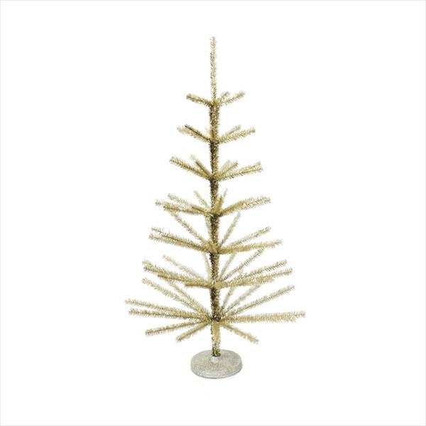 Gold Tinsel Table Top Tree