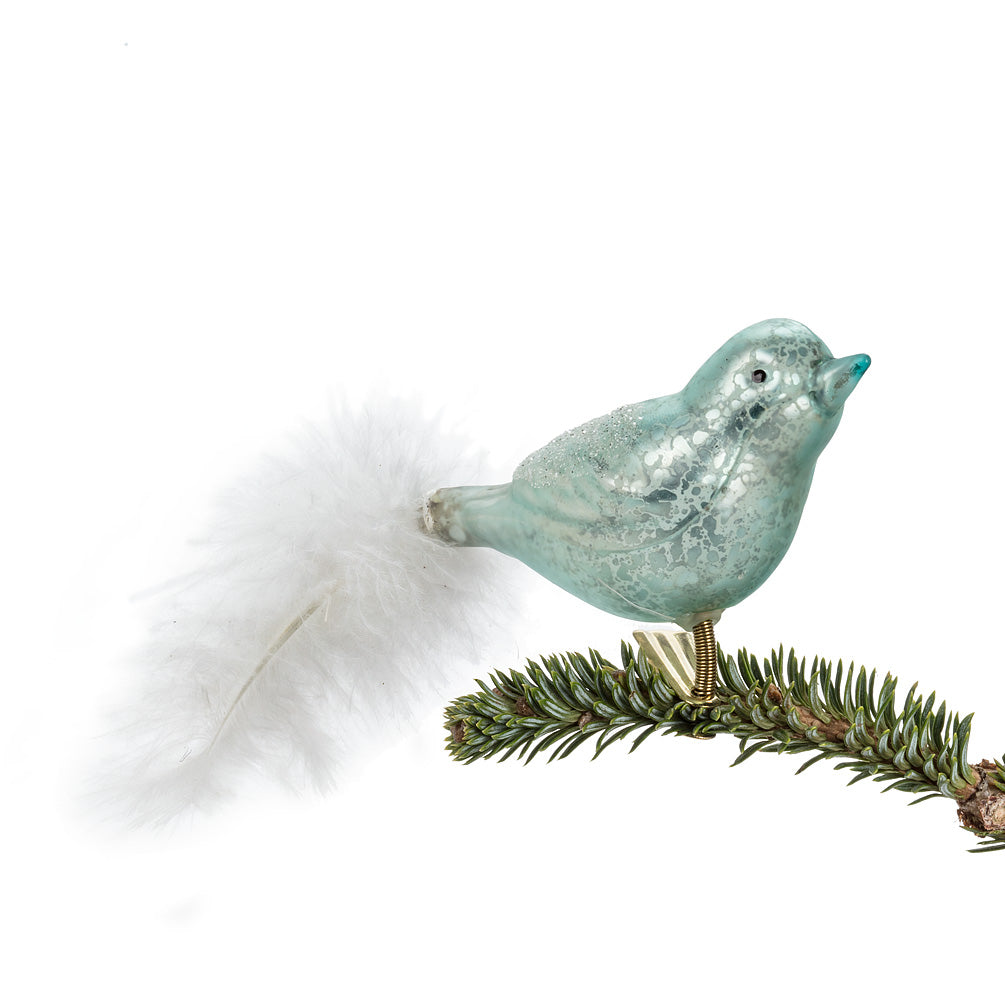 Bird with Feather Clip Ornament, AC-Abbott Collection, Putti Fine Furnishings