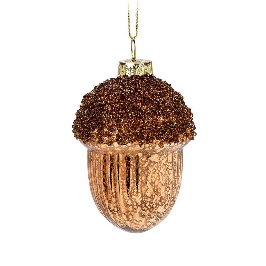Acorn Glass Ornament