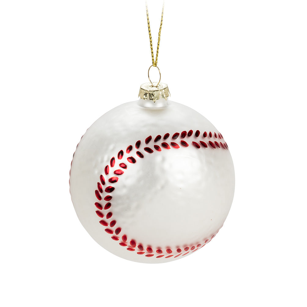 Glass Baseball Ornament, AC-Abbott Collection, Putti Fine Furnishings