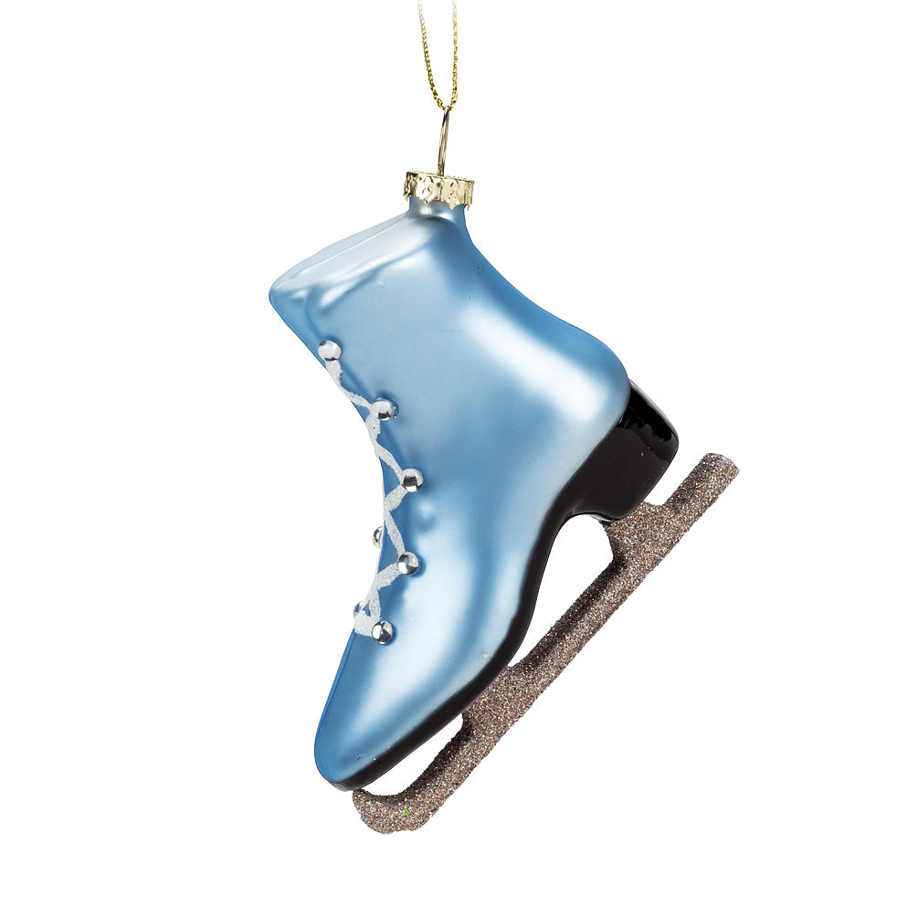 Blue Skate Glass Ornaments, AC-Abbott Collection, Putti Fine Furnishings