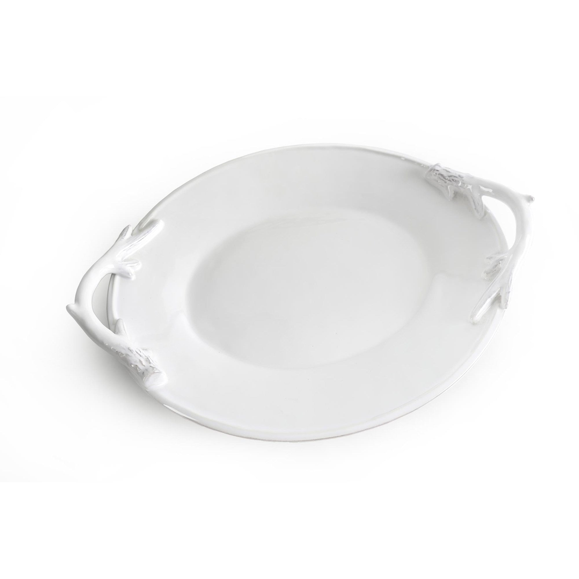 White Antler Oval Platter, IT-Indaba Trading, Putti Fine Furnishings