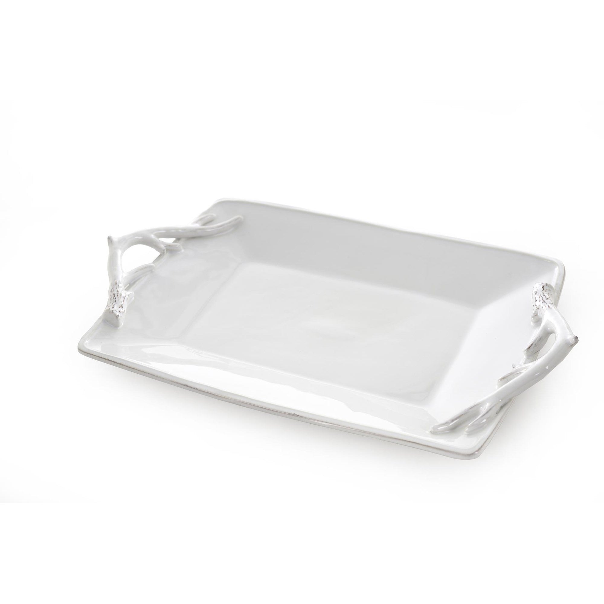 White Antler Rectangular Platter