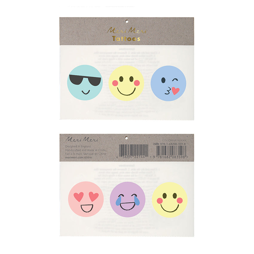 "Meri Meri ""Emoji"" Tattoos, MM-Meri Meri UK, Putti Fine Furnishings"
