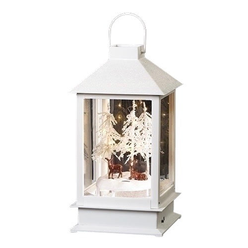 Snow Blowing Lantern with Deer and LED Light | Putti Christmas Canada