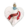 Old World Christmas Peace Dove Heart Glass Ornament -  Christmas Decorations - Old World Christmas - Putti Fine Furnishings Toronto Canada - 1